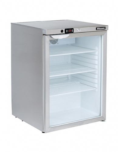 Blizzard Glass Door Undercounter Refrigerator UCR140CR